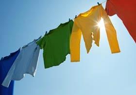 Wäsche beim Schwitzen