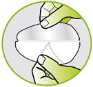 Schweisspad Gebrauchsanweisung Schritt 2